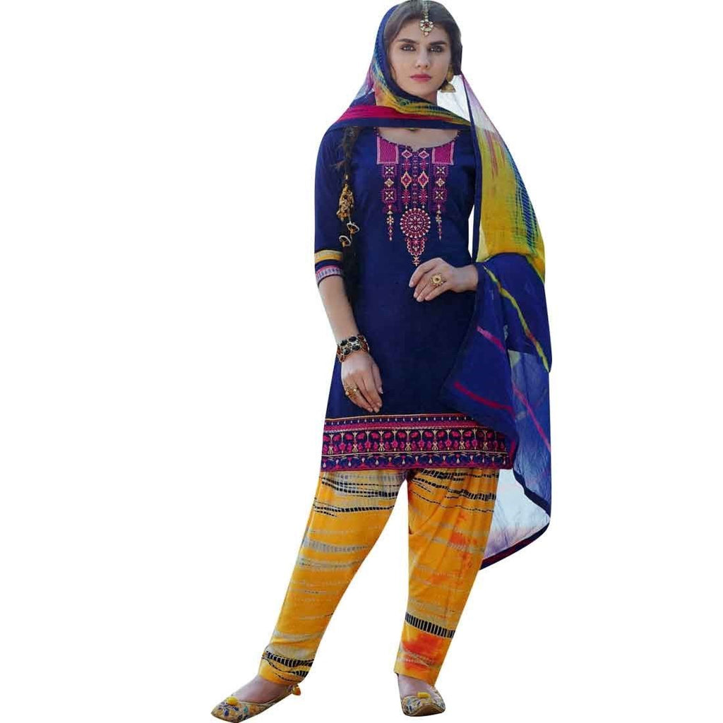 625208ebca Ready to wear Patiala Salwar Embroidered Cotton Salwar Kameez Suit Ind