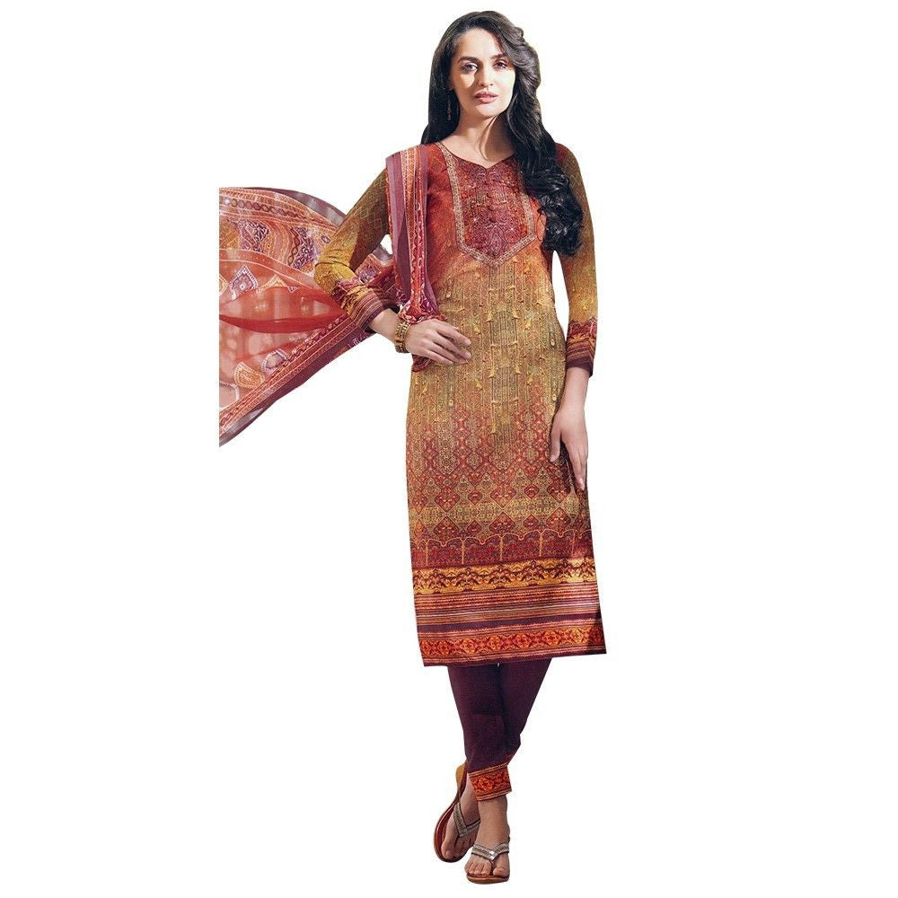 Readymade Italian Crepe Gorgeous Printed Salwar Kameez Indian