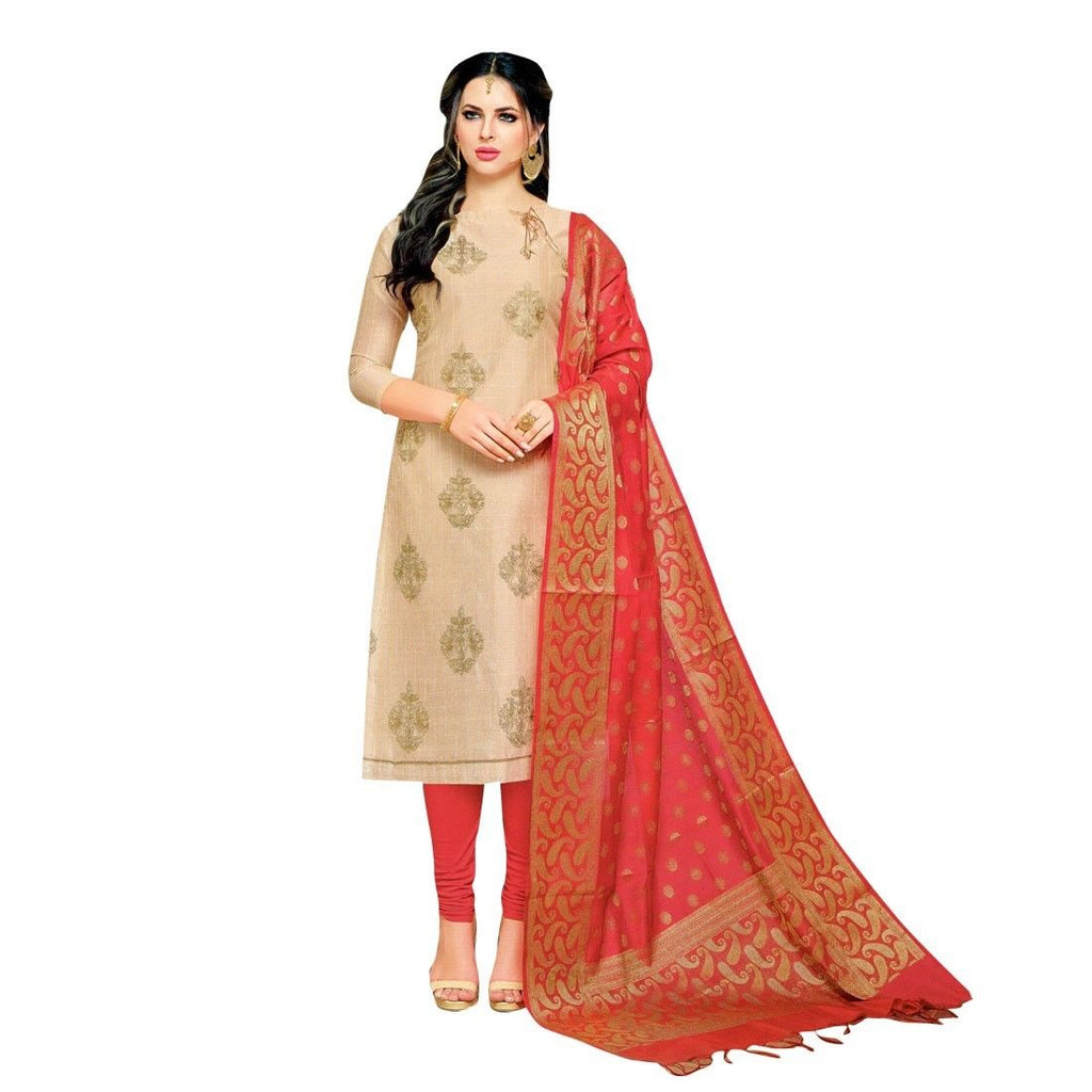 Designer Partywear Salwar Kameez with Banarasi Silk Dupatta Indian Dress Pakistani Suit