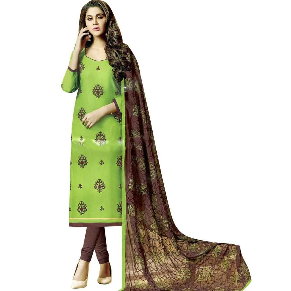 Ready to wear Cotton Embroidered Salwar Kameez Womens Indian dress