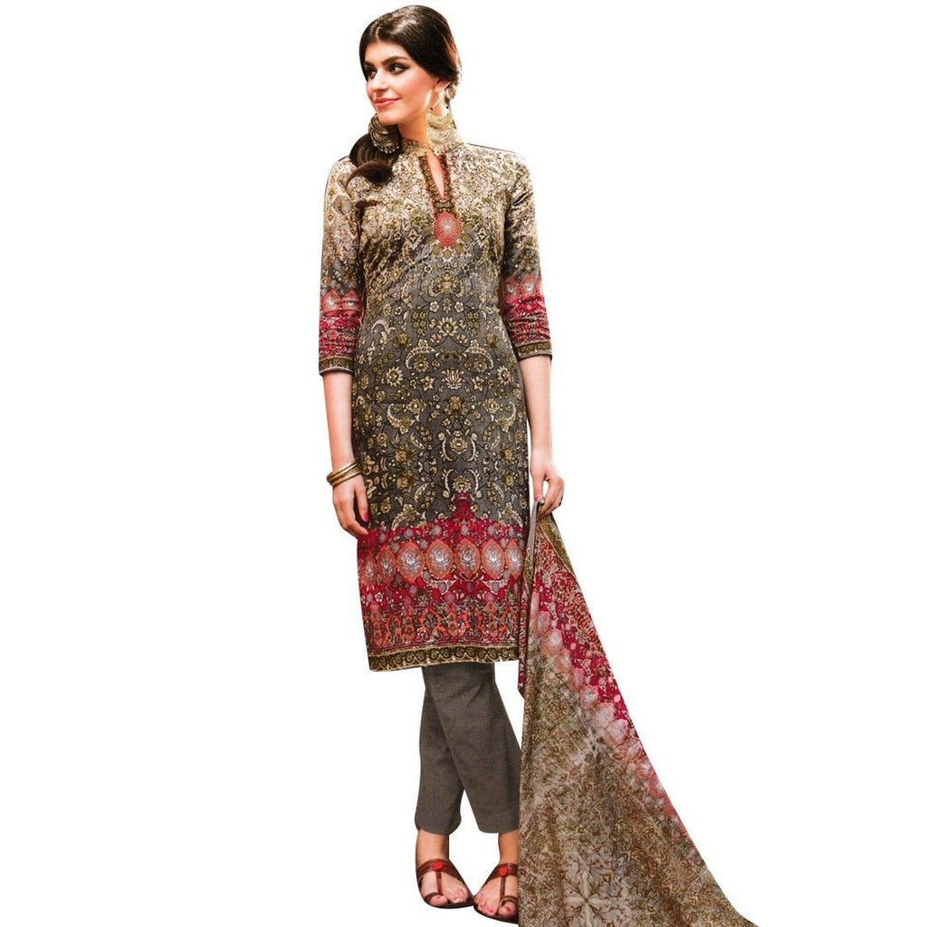 Readymade Simply Classy Printed Cotton Salwar Kameez Suit Indian