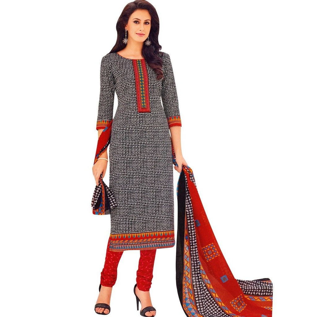 Readymade Ethnic Printed Cotton Salwar Kameez Suit Indian Dress Stitched