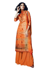 Ladyline Premium Cotton Printed Long Salwar Kameez with Palazzo Pants Womens Ready to Wear Suit