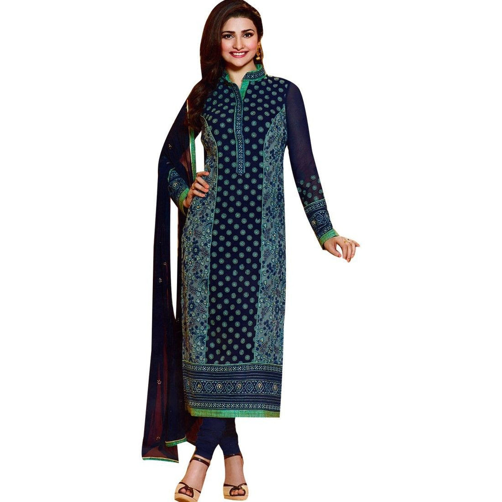 Partywear Designer Georgette Embroidered Salwar Kameez Suit India