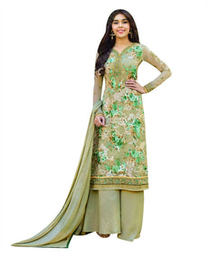 Ladyline Partywear Embroidered Salwar Kameez Palazzo Pants Ready to Wear Indian Formal Dress