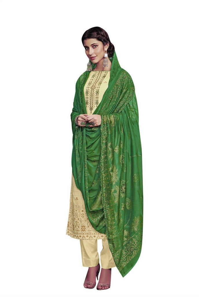 Ladyline Cotton Embroidered Salwar Kameez Ready to Wear Indian Womens Evening Dress
