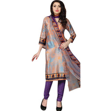 Ready to wear Rich Faux Crepe Silk Printed Salwar Kameez Suit Indian Pakistani
