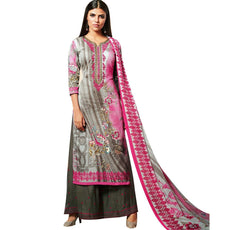 LADYLINE Readymade Salwar Kameez Cotton Elegant Embroidered Printed With Palazzo Pants Indian Bollywood