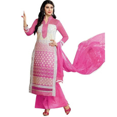 Designer Readymade Rich Cotton Embroidered Salwar Kameez Indian Suit