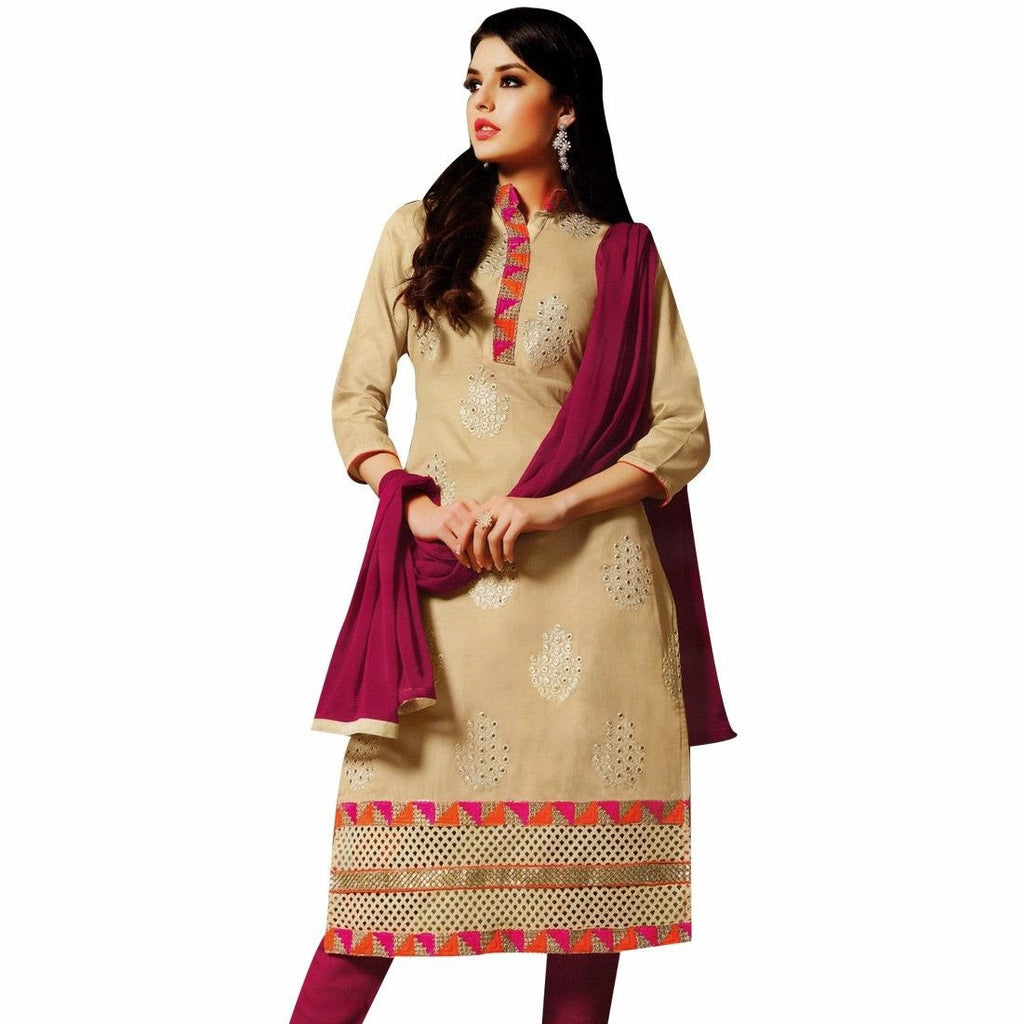 Bollywood Rich Cotton Embroidered Salwar Kameez Suit Online