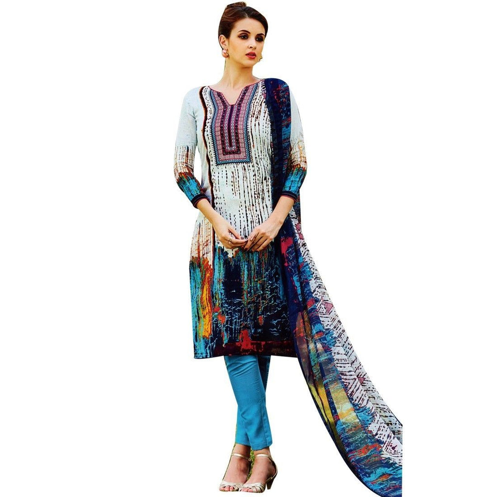 Ready Made Ethnic Karachi Style Printed Cotton Salwar Kameez