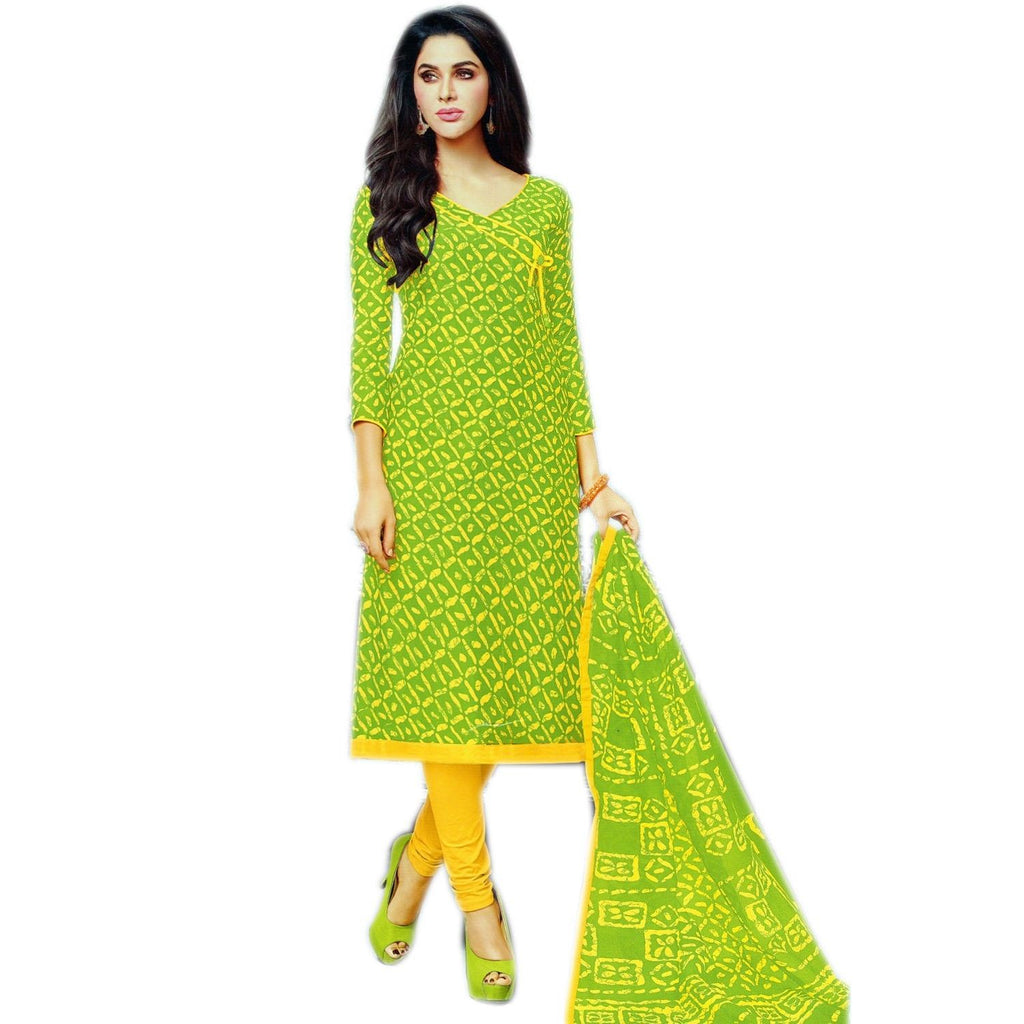 Ready Made Ethnic Batik Style Printed Cotton Salwar Kameez Suit Indian Ready to wear Dress