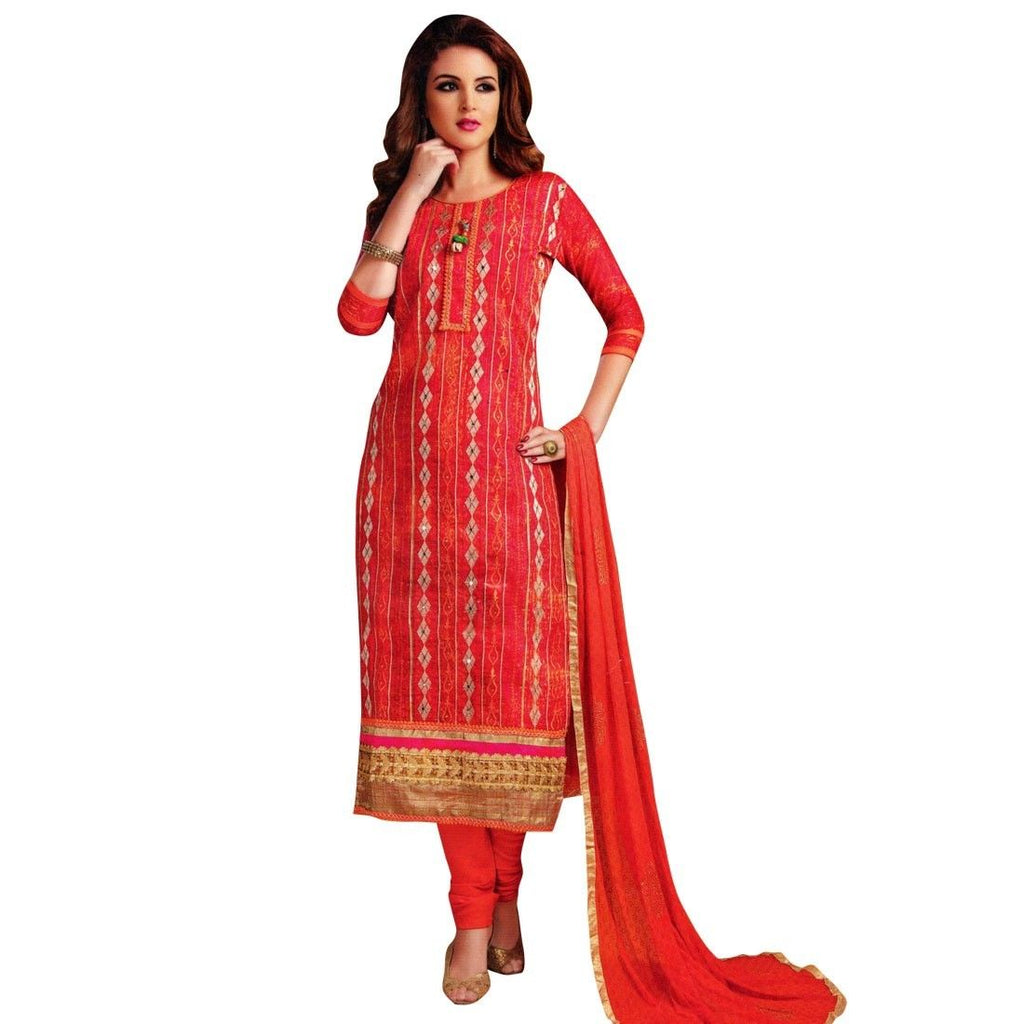 Readymade Partywear Rich Cotton Embroidered/Handwork Salwar Kameez