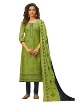 Womens Formal Cotton Silk Embroidered Salwar Kameez with Chiffon Embroidery Dupatta