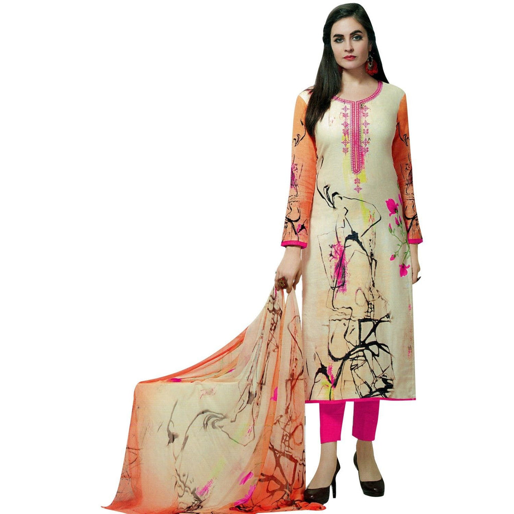 Readymade Salwar Kameez Cotton Gorgeous Printed with Light Embroidery Indian Pakistani Dress Suit