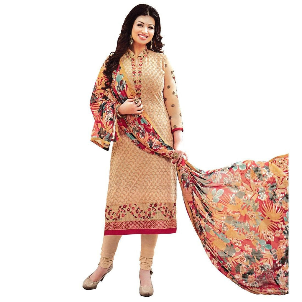 Designer Wedding Embroidered Georgette Salwar Kameez Suit Indian Dress