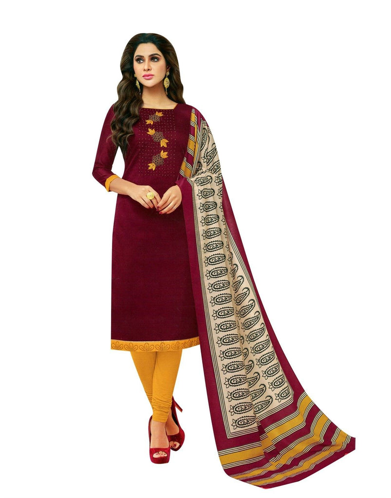 LADYLINE Rich Salwar Kameez Blend Silk Handwork & Embroidered with Rayon Dupatta Indian Dress