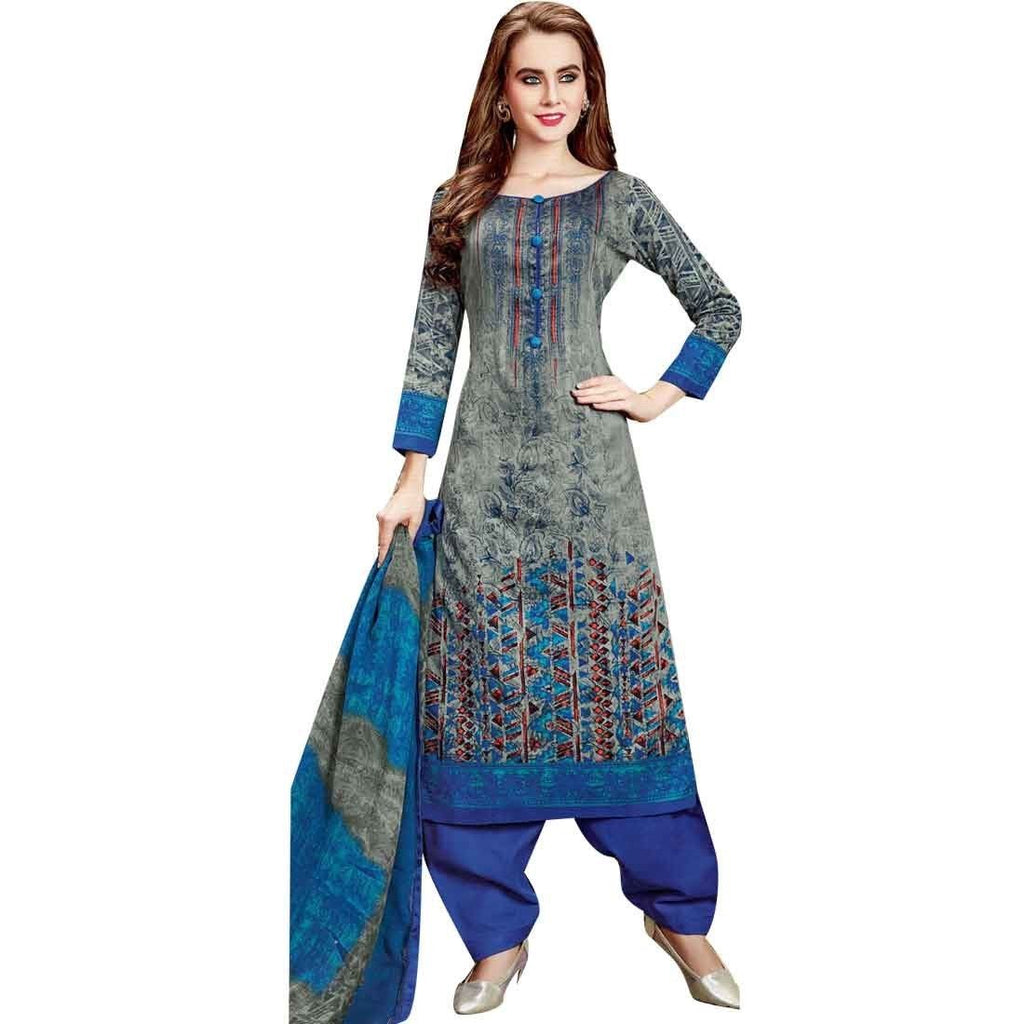 Readymade Cotton Karachi Style Printed Salwar Kameez Suit Womens Indian Dress