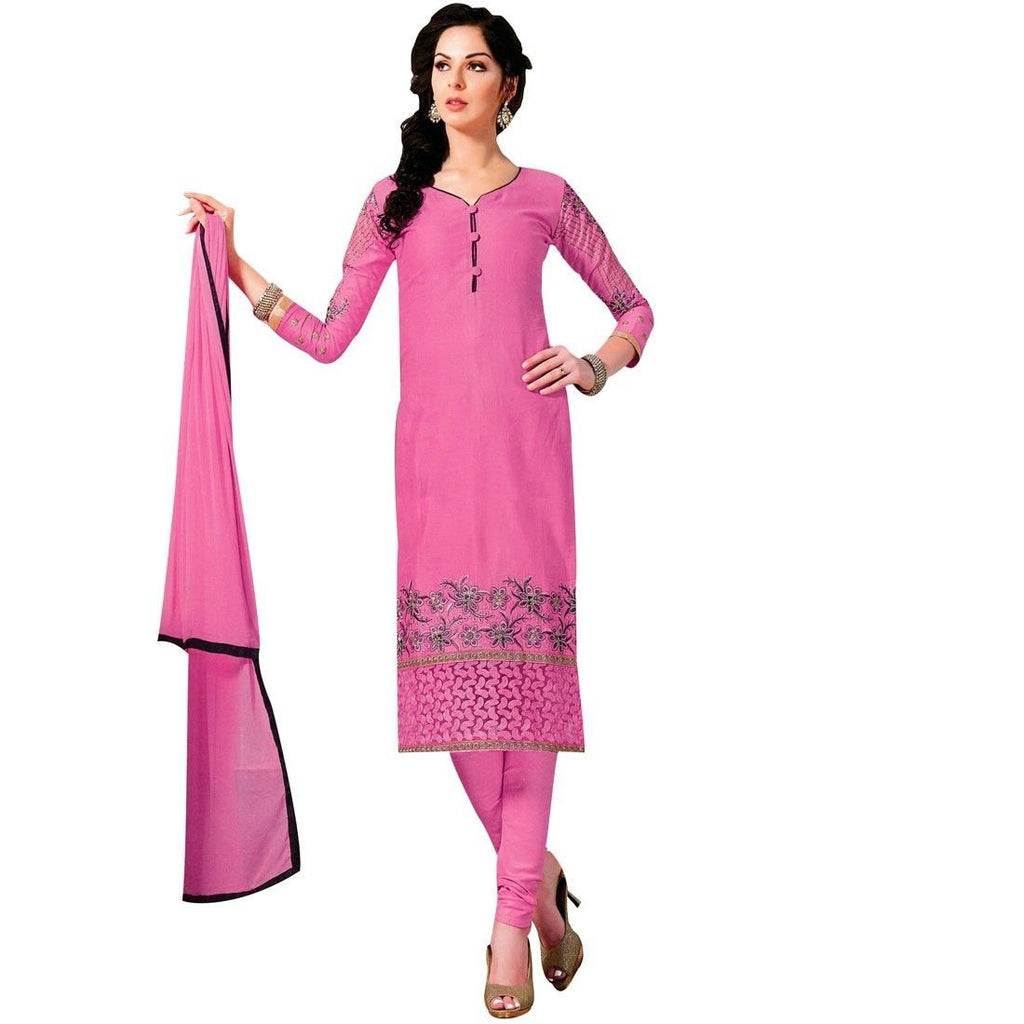 Ready Made Designer Cotton Embroidered Salwar Kameez Indian Suits