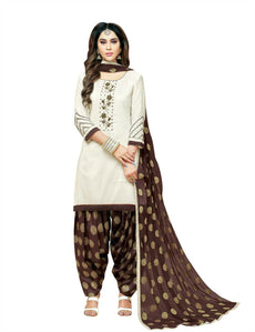 LADYLINE Kora Silk Handwork Salwar Kameez with Jacquard Dupatta Ready to Wear Salwar suit Indian