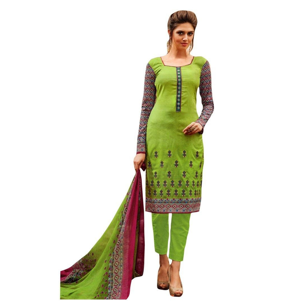 Readymade Print & Embroidered Cotton Salwar Kameez Suit Indian
