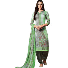 LADYLINE Readymade Salwar Kameez Cotton Elegant Embroidered Printed With Patiala Salwar Indian Bollywood