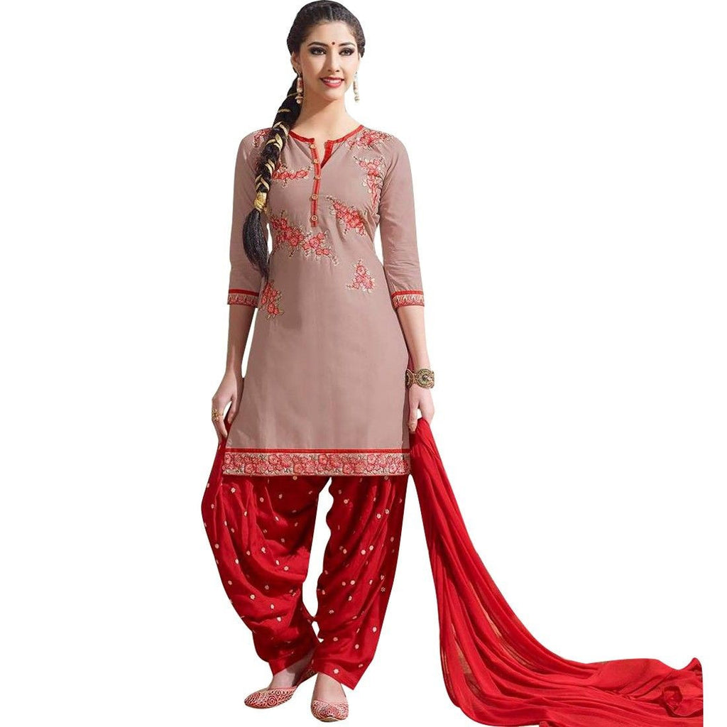 Readymade Cotton Patiala Embroidered Salwar Kameez Suit Indian PH-51