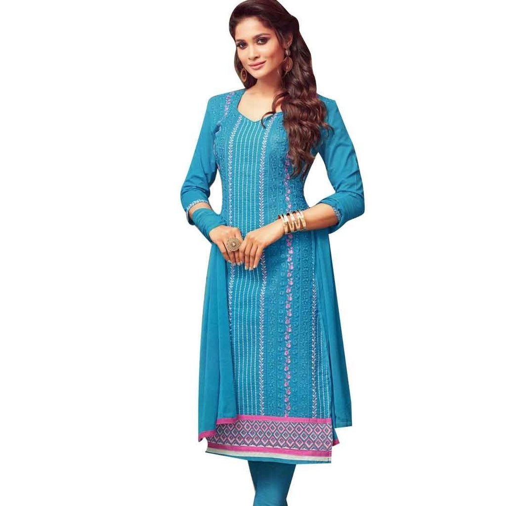Designer Readymade Premium Cotton Embroidered Salwar Kameez Suit Indian Pakistani Dress