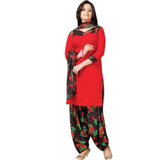 Ready to wear French Crepe Printed Salwar Kameez Suit Indian Pakistani dress