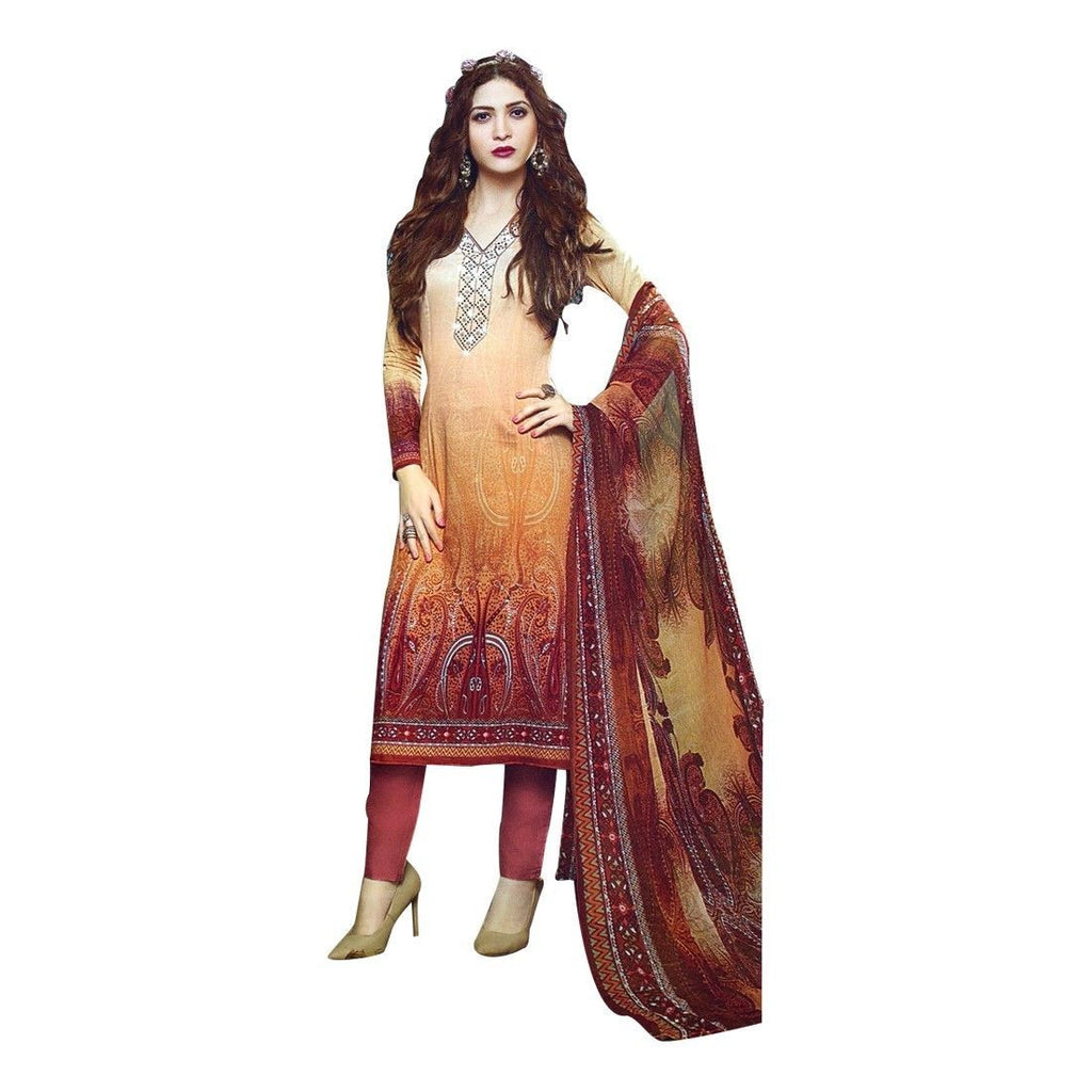 Partywear Gorgeous Cotton Embroidered Salwar Kameez Suit Bollywood