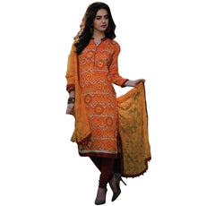Ready Made Pure Lawn Cotton Printed Lace Salwar Kameez Indian
