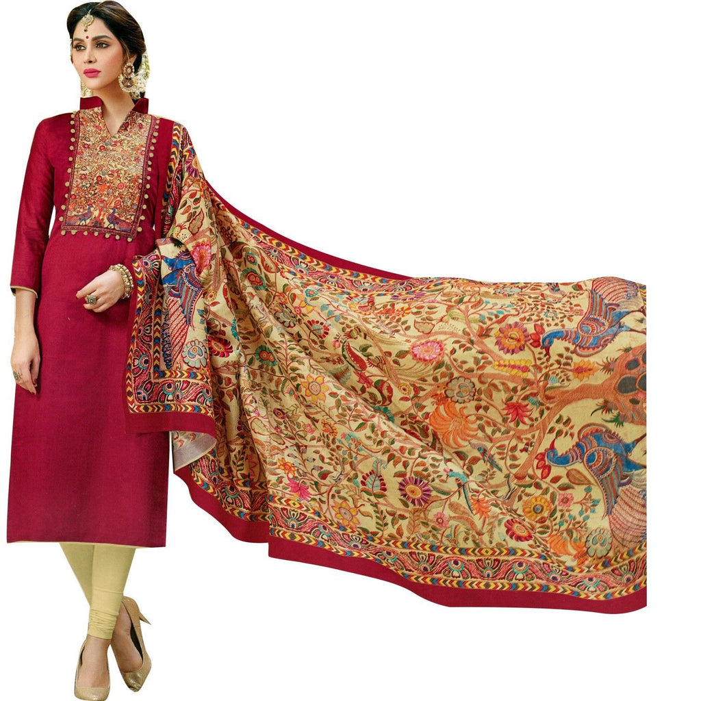 Readymade Designer Salwar Kameez Cotton with Exclusive Ethnic Printed Cotton Dupatta Figure Prints