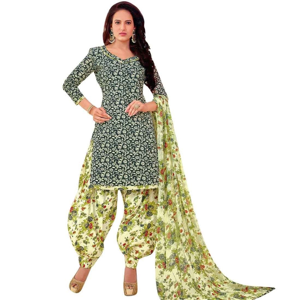 Readymade Ethnic Printed Pure Cotton Salwar Kameez Patiala Salwar Indian Dress