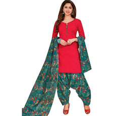 Ready to wear Cotton Printed with Patiala Salwar Kameez Indian Ethnic Pakistani Salwar Suit Readymade