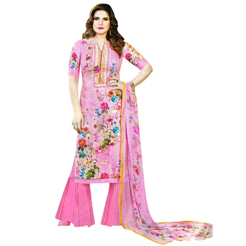 LADYLINE Womens Premium Cotton Embroidered Salwar Kameez Indian Dress Stitched Ready to wear salwar suit
