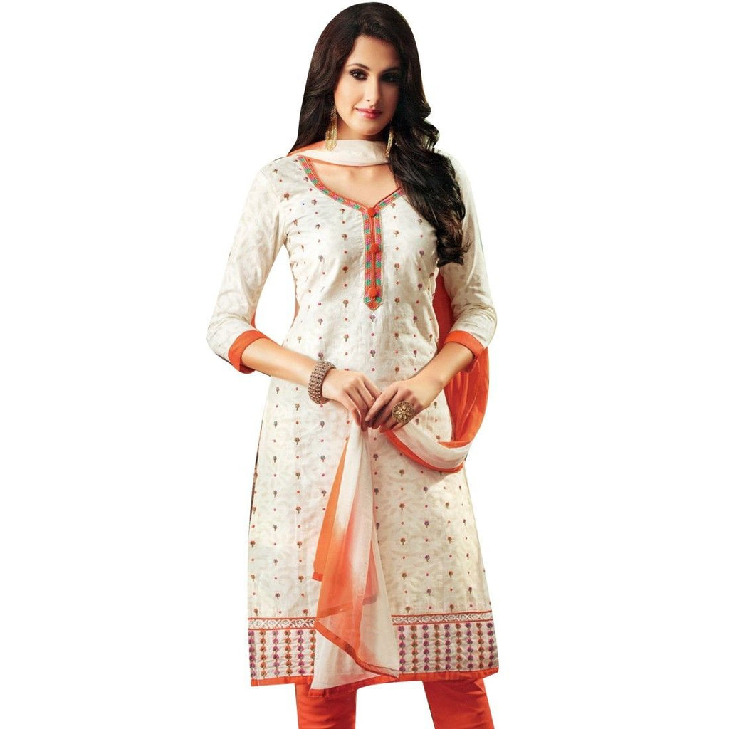Designer Rich Cotton Embroidered Salwar Kameez Suit Indian