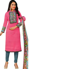 Readymade Faux Crepe Salwar Kameez with Digital Printed Readymade Salwar Suit Indian Dress