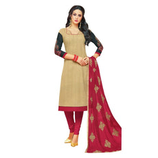 Readymade Cotton Salwar Kameez with Embroidered Dupatta Indian Pakistani Dress