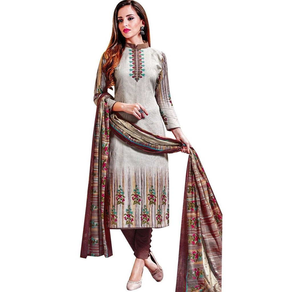 Readymade Gorgeous Printed Cotton Salwar Kameez Suit Indian Dress