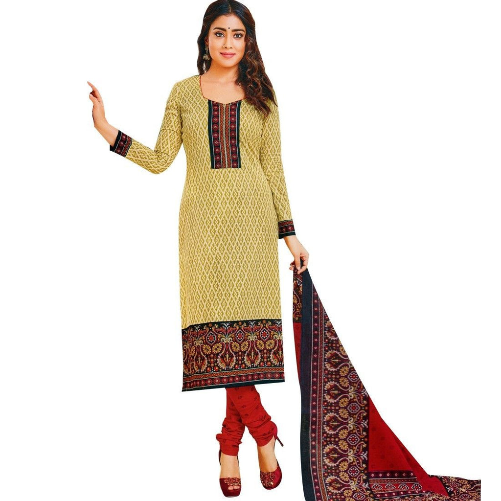 Readymade Ethnic Cotton Printed Salwar Kameez Indian Dress Suit