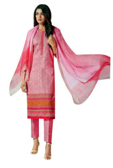 Ladyline Bandhani Print & Embroidery Cotton Salwar Kameez Suit Indian Dress Embroidered