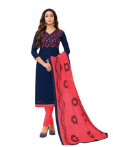 LADYLINE Cotton Embroidered Salwar Kameez with Designer Embroidery Dupatta