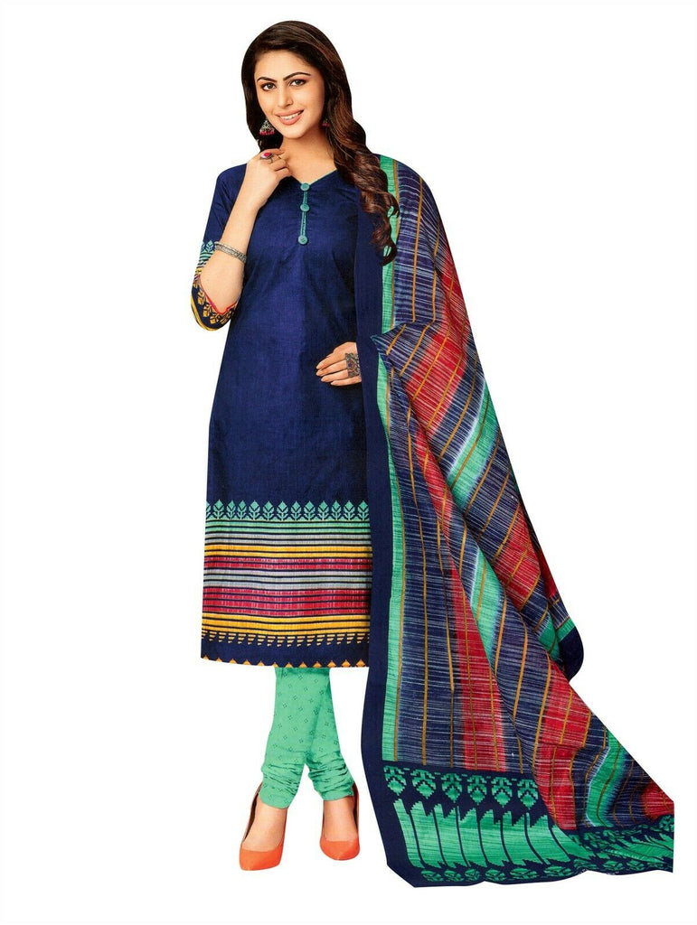 Ladyline Pure Cotton Printed Salwar Kameez Suit With Cotton Dupatta for Womens