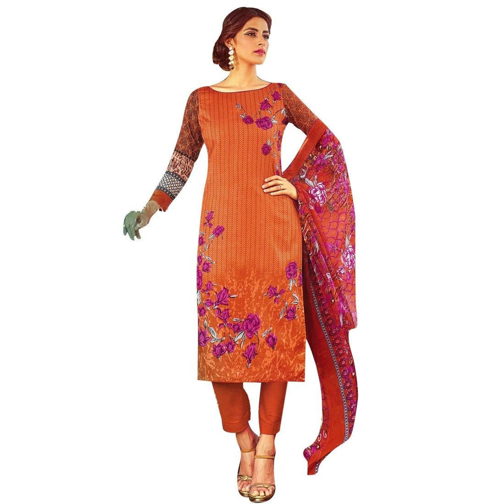 Readymade Designer Printed Cotton Salwar Kameez Suit Indian