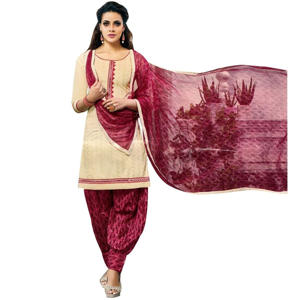 Ready Made Rich Embroidered Cotton Salwar Kameez Suit Indian