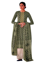 Ladyline Cotton Embroidered Bandhani Printed Palazzo Pants Salwar Kameez Ready to Wear with Cotton Dupatta Indian Dress