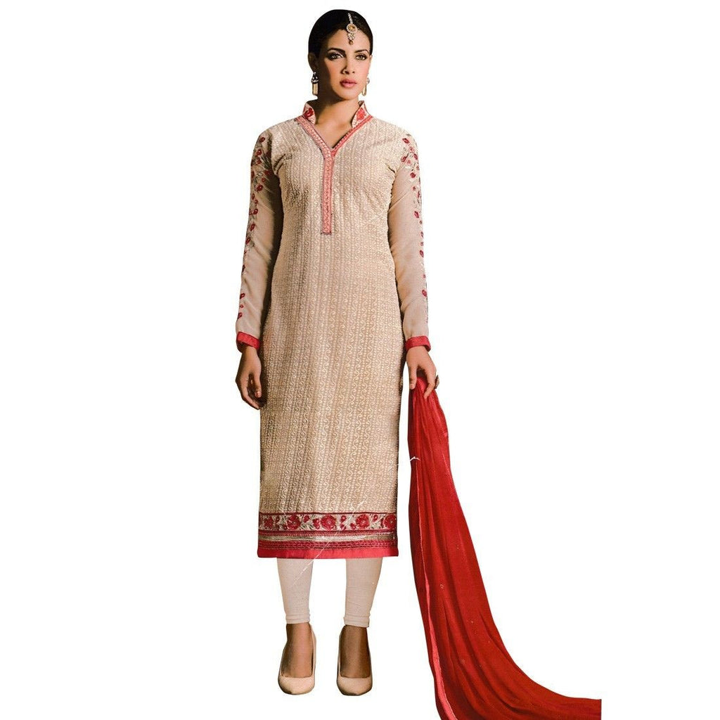 Designer Ready Made Georgette Salwar Kameez Embroidered Indian Dres