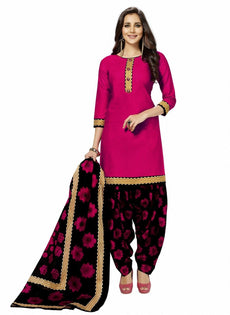 LADYLINE Cotton Printed Salwar Kameez Indian Stitched Dress