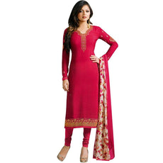 Designer Italian Crepe Embroidery Readymade Salwar Kameez Indian Dress