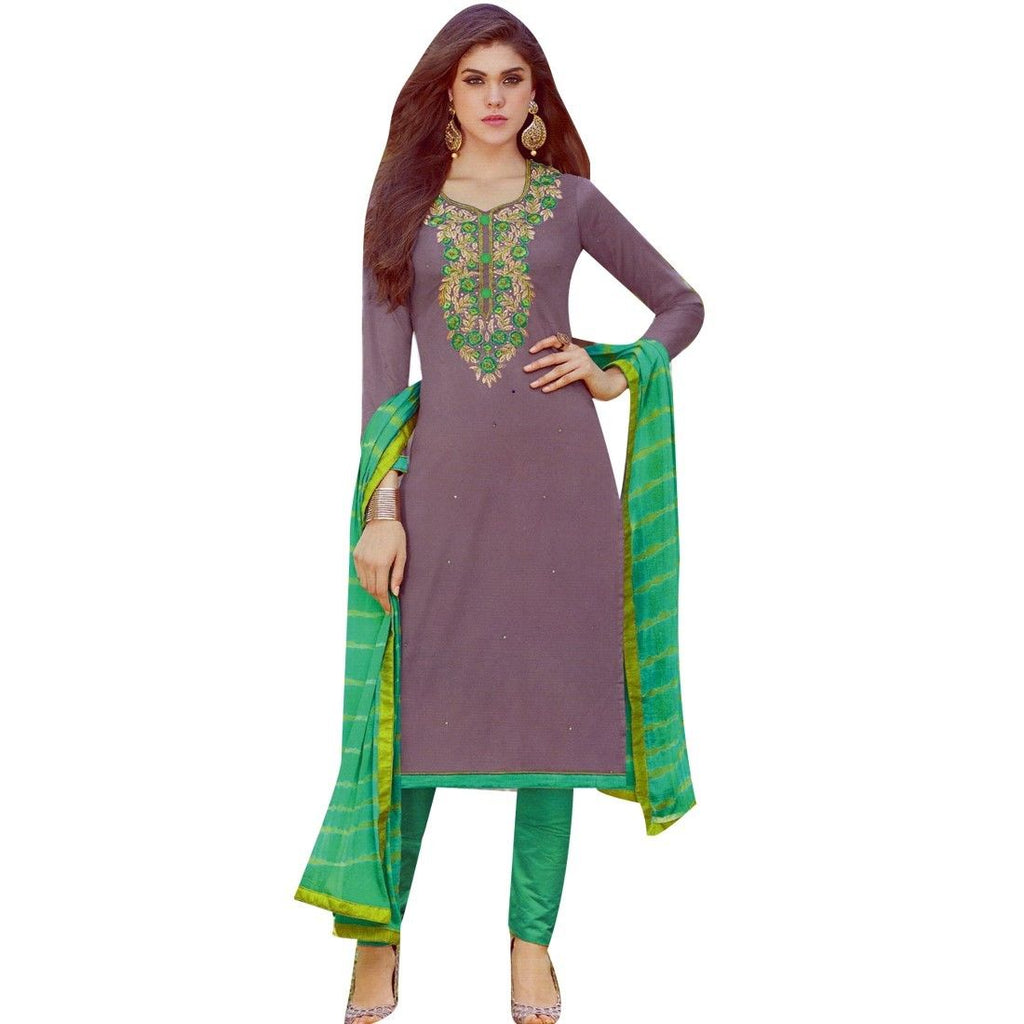 Readymade Elegant Cotton Embroidered Salwar Kameez Suit Indian Dress Pakistani